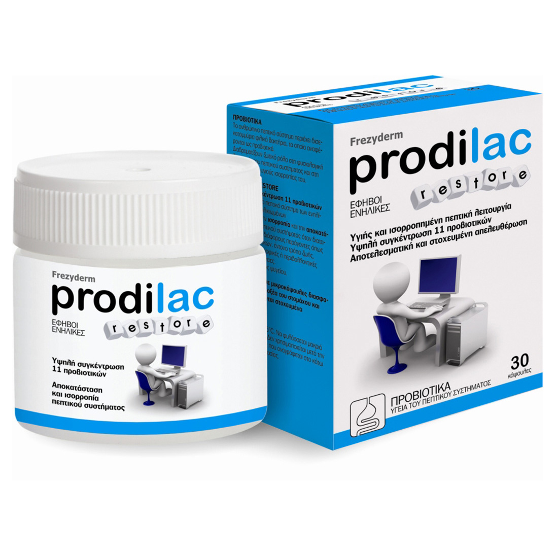 Frezyderm Prodilac Restore 30 Εντεροδιαλυτές Προβιοτικώνγια Έφηβους & Ενήλικες 16-50 Ετών 30caps