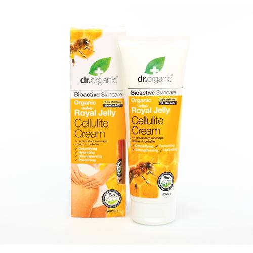 Dr Organic Royal Jelly Cellulite Cream Κρέμα κατά της Κυτταρίτιδας με Βιολογικό Βασιλικό Πολτό 200ml