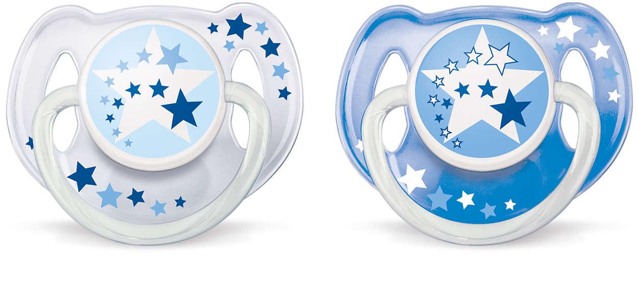 Avent Νυχτερινή Ορθοδοντική Πιπίλα Σιλικόνης 6-18 μηνών Μπλέ / Διάφανο 2τεμάχια  μητέρα παιδί   αξεσουάρ και παιχνίδια   πιπίλες σιλικόνης
