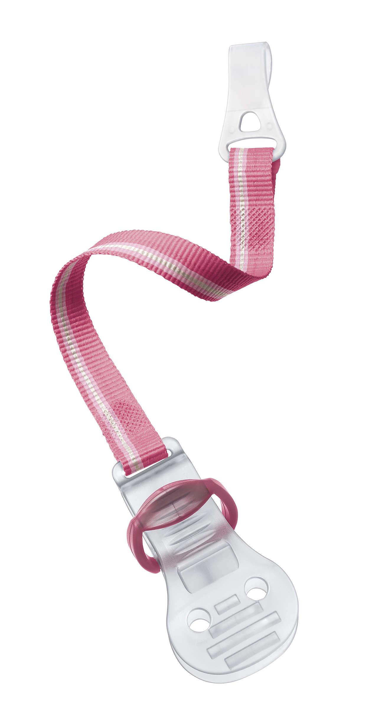 Avent Κλίπ Πιπίλας σε 3 Διαφορετικά Χρώματα 0m+ 1τεμάχιο – ροζ