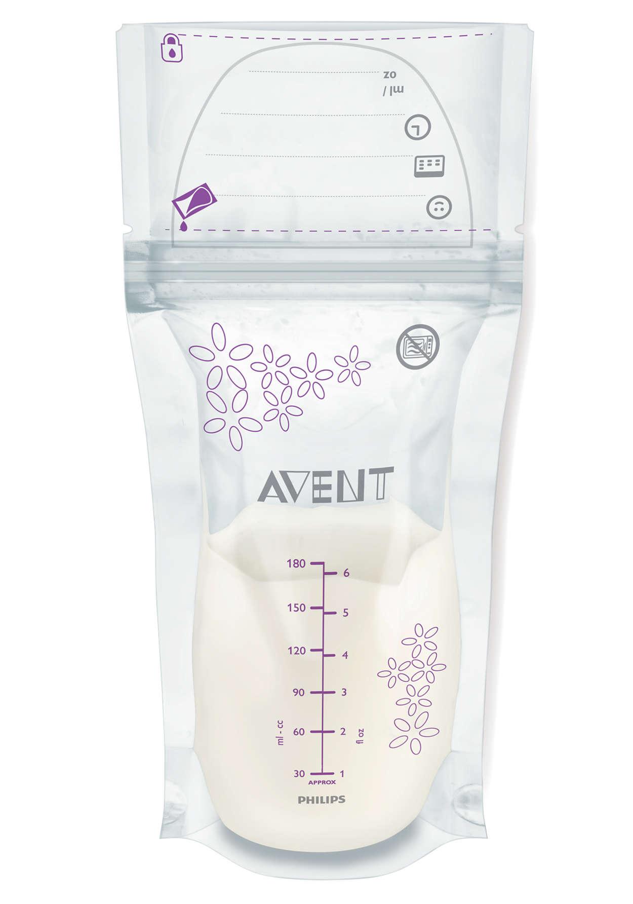 Avent Σακουλάκια Αποθήκευσης Μητρικού Γάλακτος 180ml 25τεμάχια