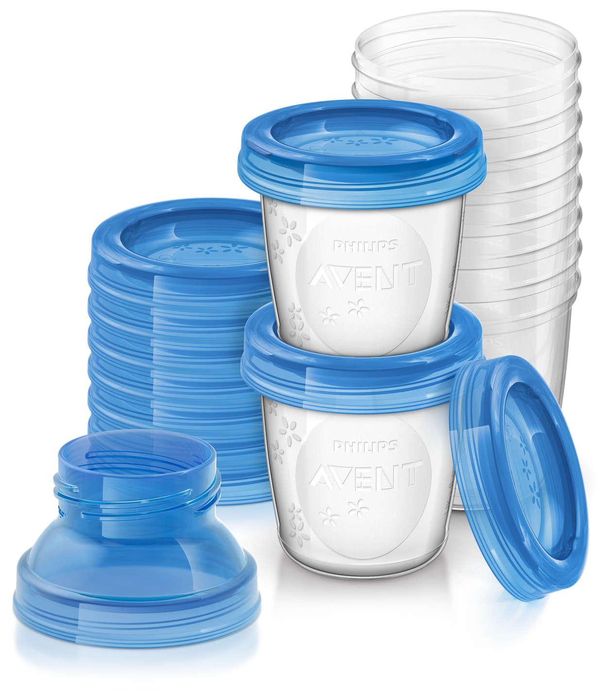 Avent Δοχεία Αποθήκευσης Μητρικού Γάλακτος με Αντάπτορες