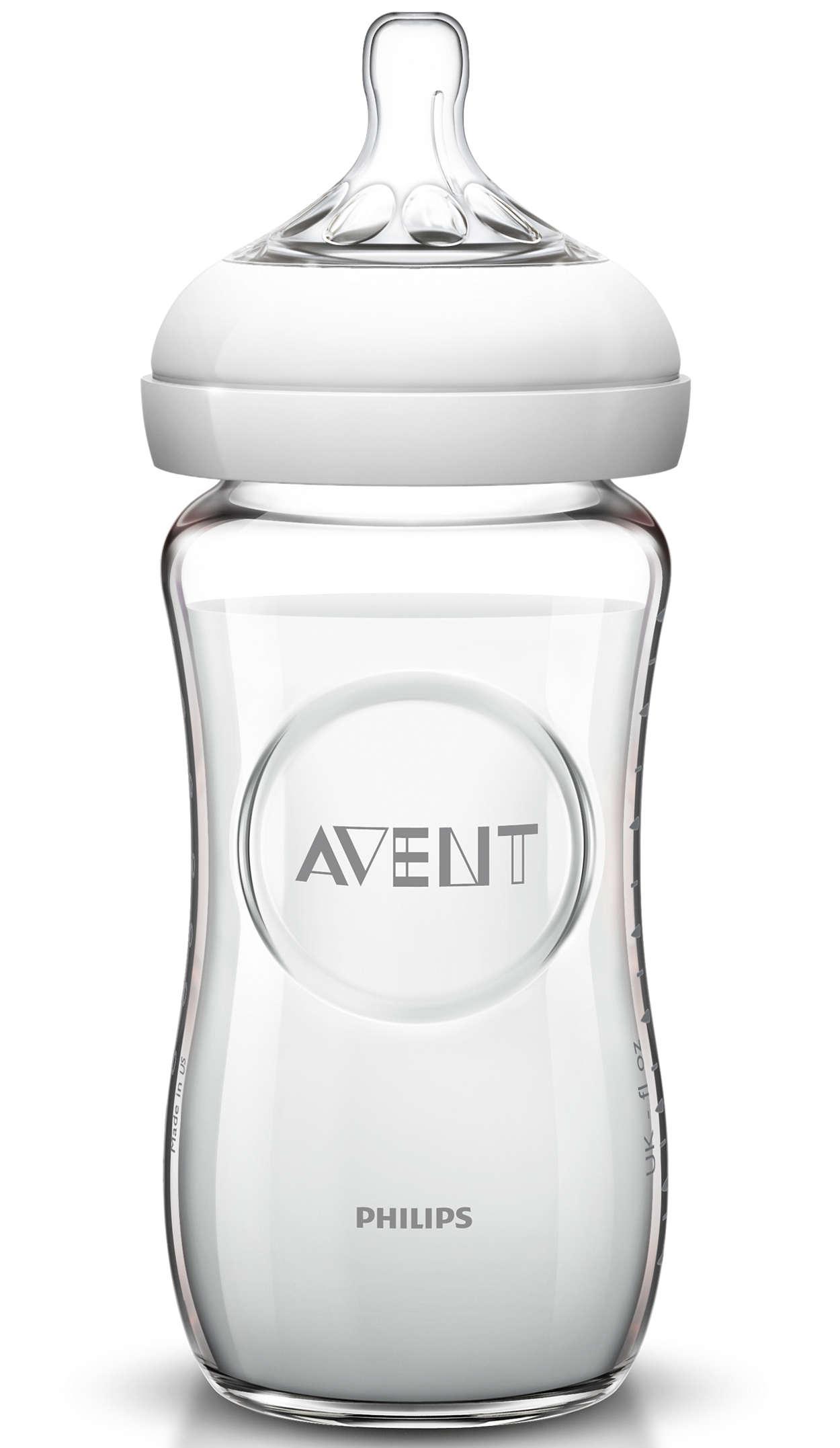 Avent Natural Γυάλινο Μπιμπερό Χωρίς BPA 1m+ 240ml SCF673/17
