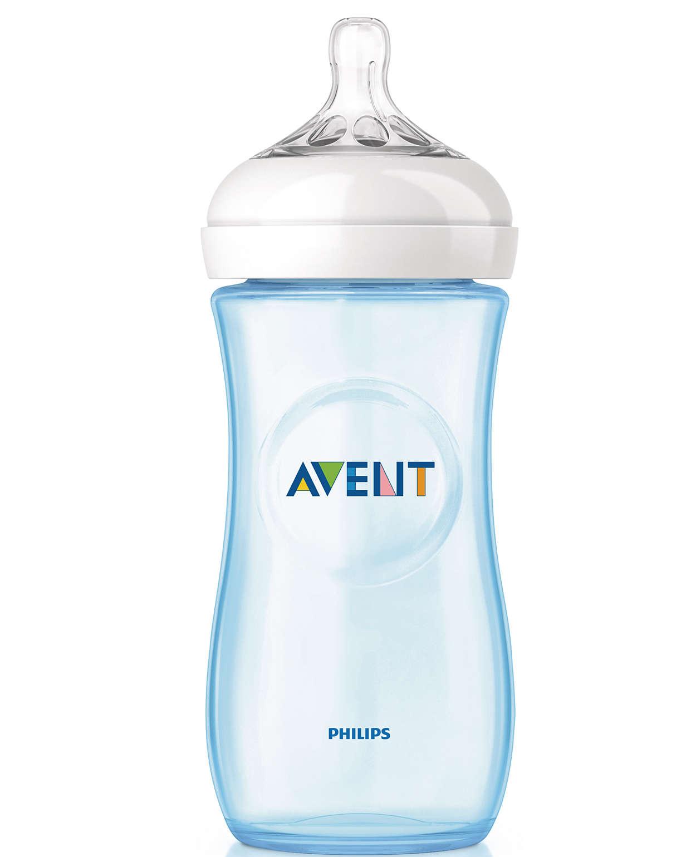 Avent Μπιμπερό Natural Πλαστικό 3m+ 330ml SCF697-8/17 – μπλέ
