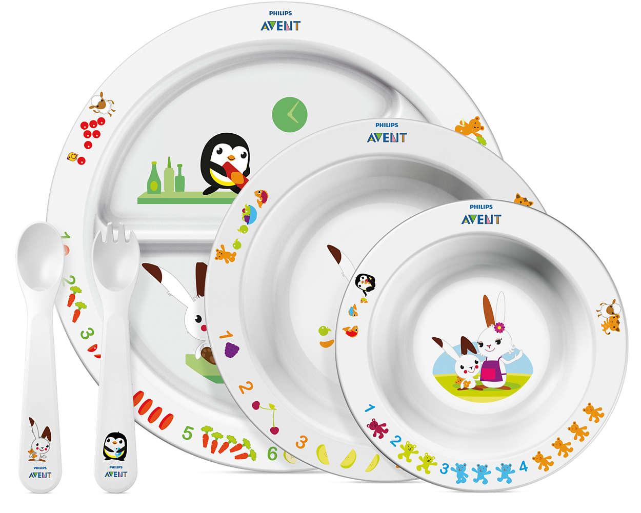 Avent Σετ Φαγητού για Νήπια απο 6 Μηνών+ μητέρα παιδί   αξεσουάρ και παιχνίδια   βρεφικά   παιδικά σετάκια φαγητού