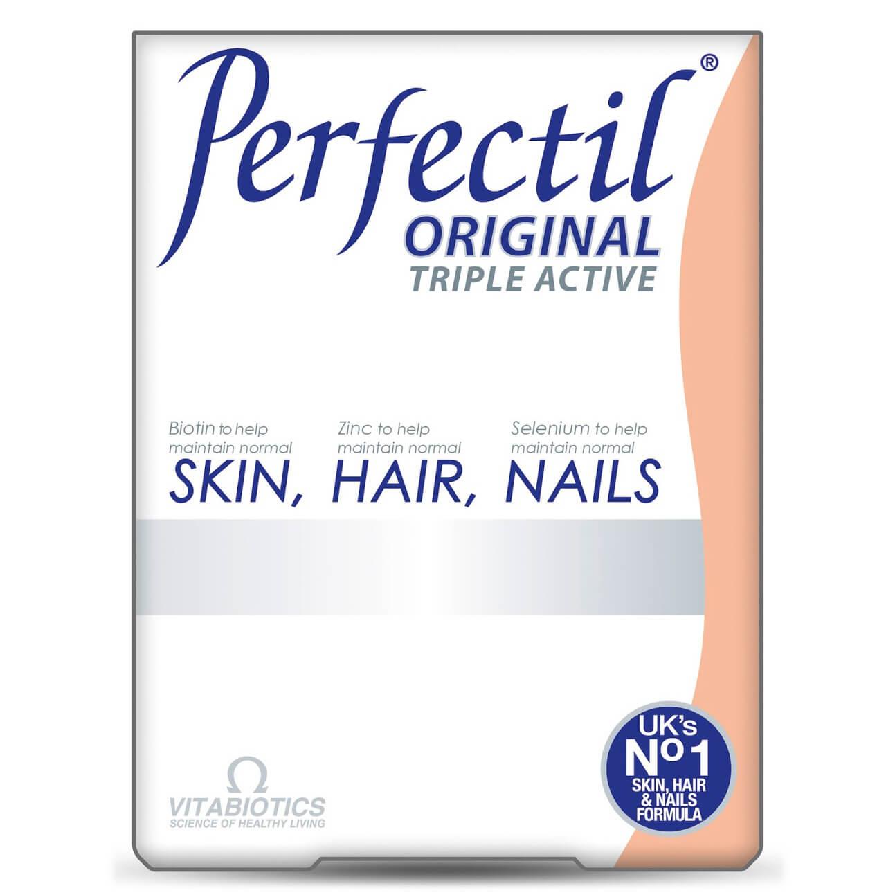 Vitabiotics Perfectil Original Συμπλήρωμα Διατροφής για Υγεία του Δέρματος των Μαλλιών και των Νυχιών 30 tabs
