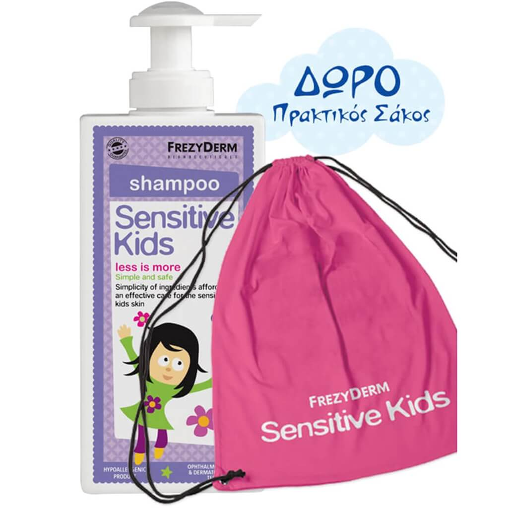 Frezyderm Πακέτο Προσφοράς Sensitive Kids Shampoo for Girls Εξειδικευμένο Σαμπουάν για Κορίτσια 200ml & Δώρο Πρακτικός Σάκος