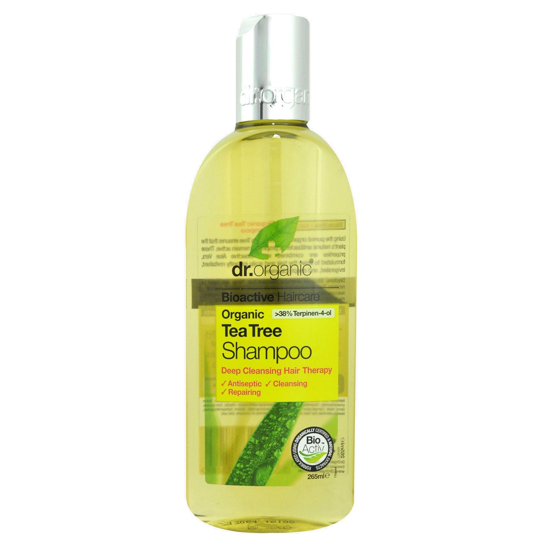 Dr Organic Tea Tree Shampoo Καταπραϋντικό & Ενυδατικό Σαμπουάν με Βιολογικό Τεϊόδεντρο 265ml