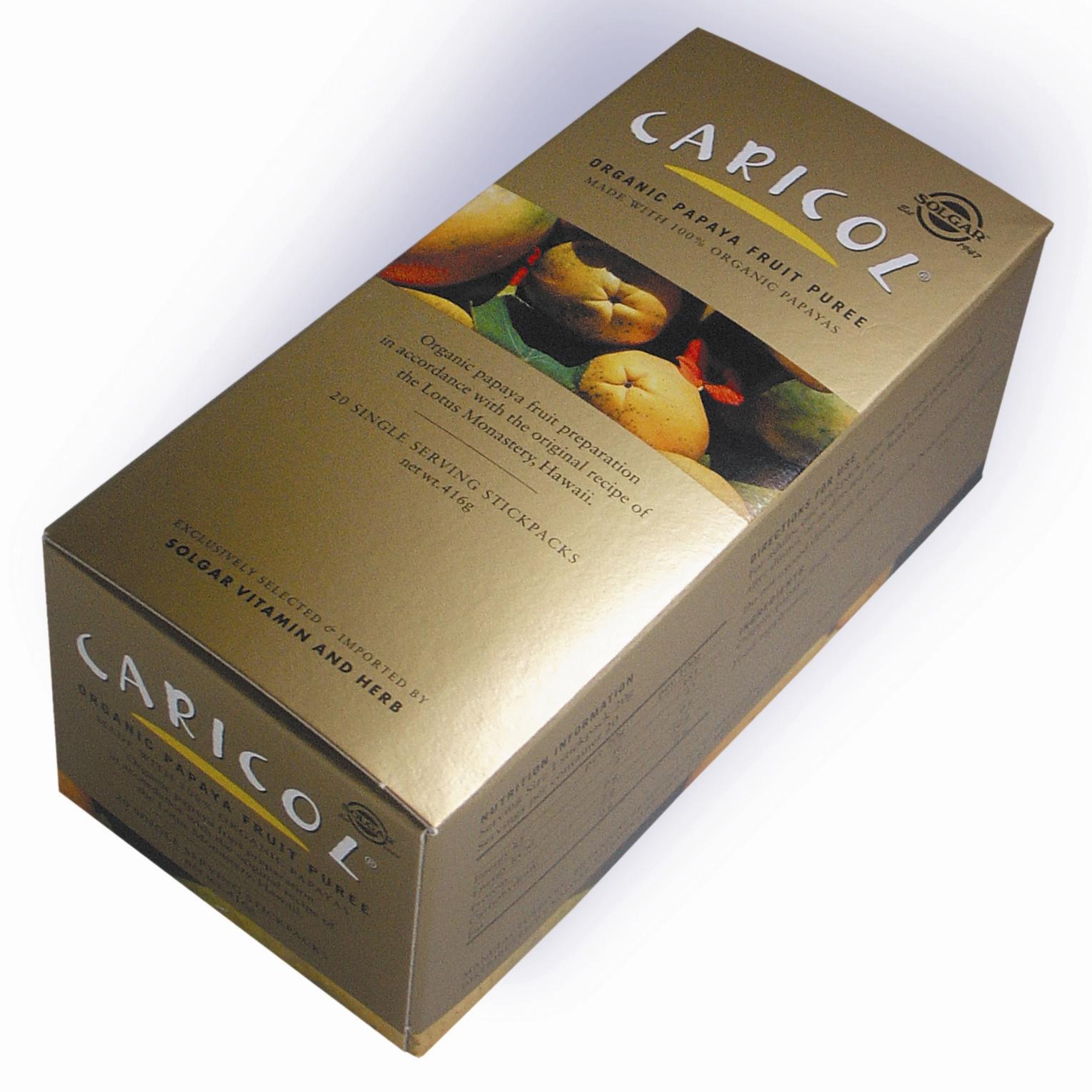 Solgar Caricol Συμπλήρωμα Διατροφής που Βοηθά στη Βελτίωση της Πέψης & στη Καλύτερη Διάσπαση των Πρωτεϊνών20 stickpacks 1079