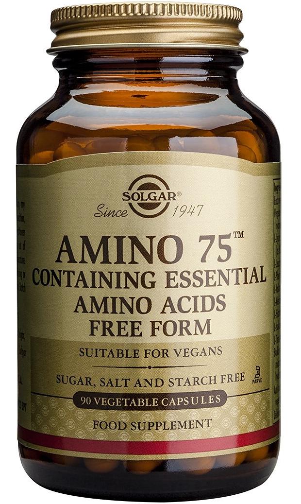 Solgar Amino 75 Συμπλήρωμα Διατροφής Αμινοξέα Κρυσταλλικά Και Ελεύθερης Μορφής veg.caps – 30 caps