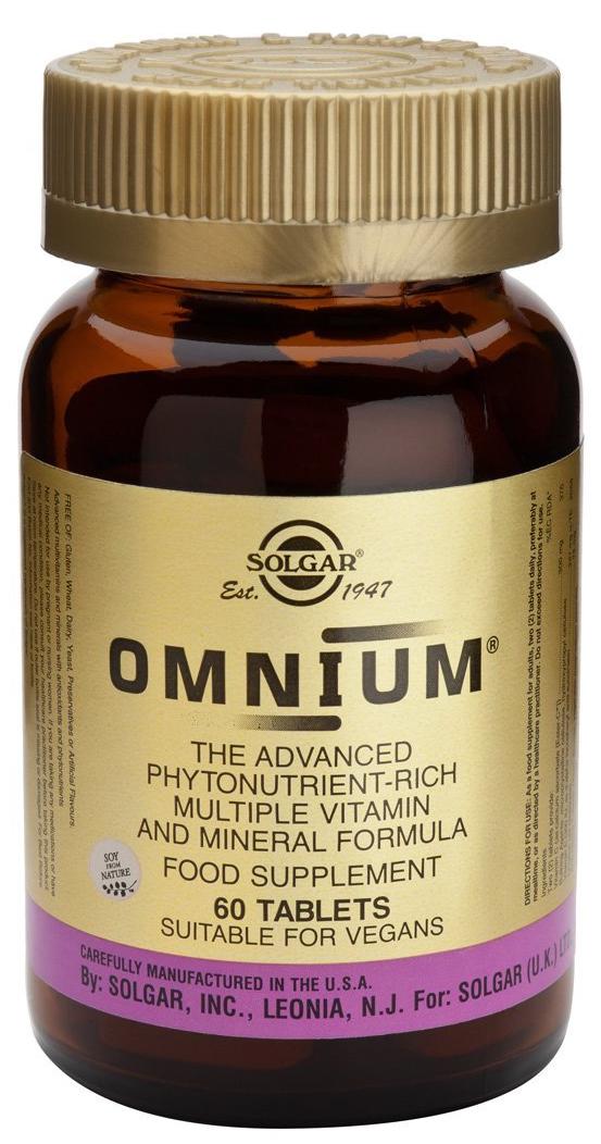 Solgar Omnium Πρωτοποριακή Προηγμένη Φόρμουλα Πολλαπλής Διατροφικής Αξίας tablets – 90 tabs