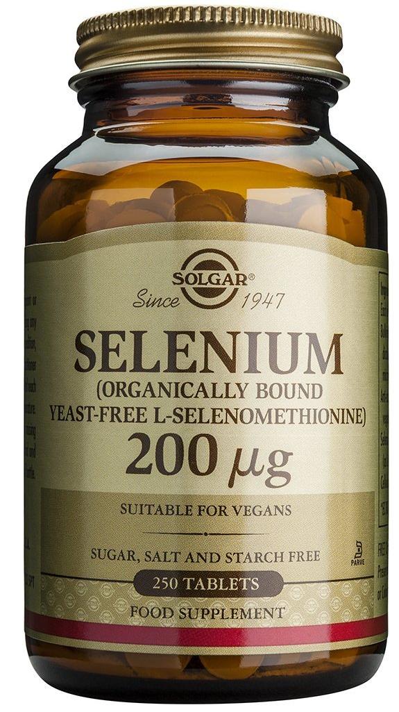 Solgar Selenium Συμπλήρωμα Διατροφής Κατάλληλο για τη Προστασία από Καρδιακές & Εκφυλιστικές Παθήσεις 200μg – 100 tabs