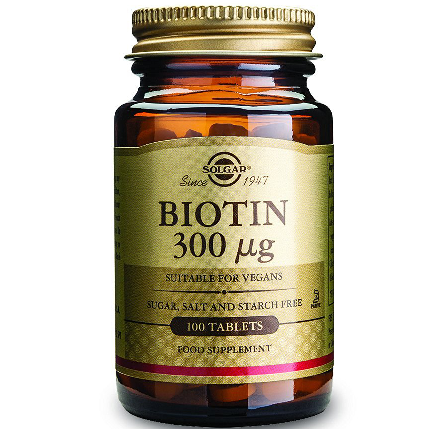 Solgar Biotin 300mg Συμπλήρωμα Διατροφής για Την Υγεία Μαλλιών & Δέρματος veg.caps – 300μg tablets 100 caps