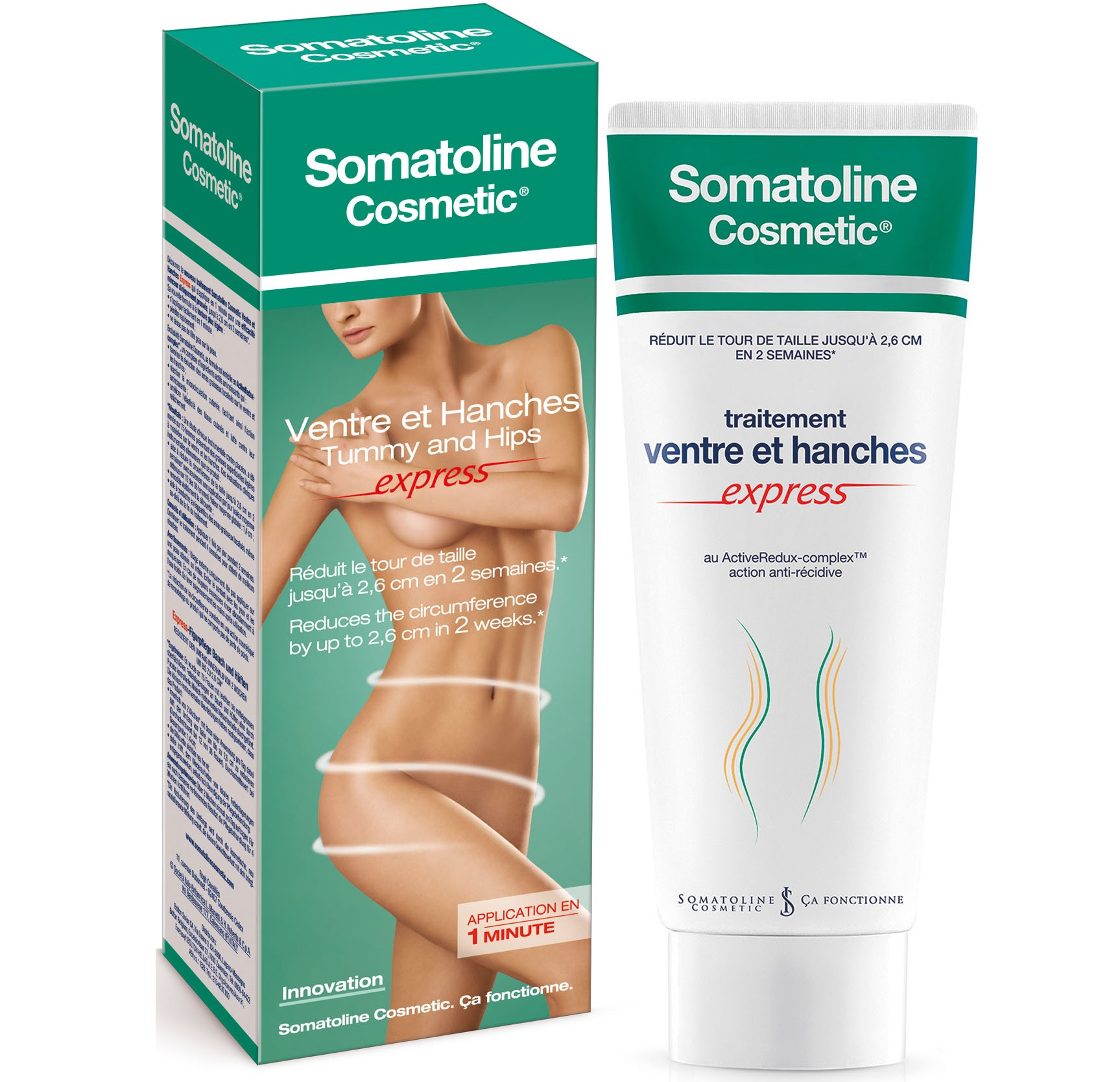 Somatoline Cosmetics Tummy and Hips Κοιλιά & Γοφοί Express 150ml