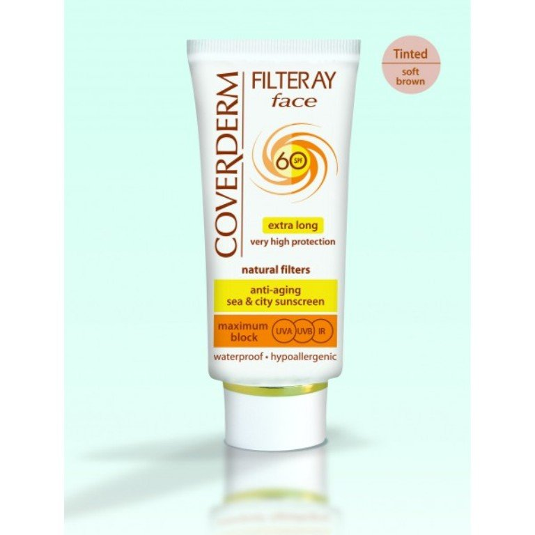 Coverderm Filteray Face SPF 60 Tinted (Soft Brown), 50ml