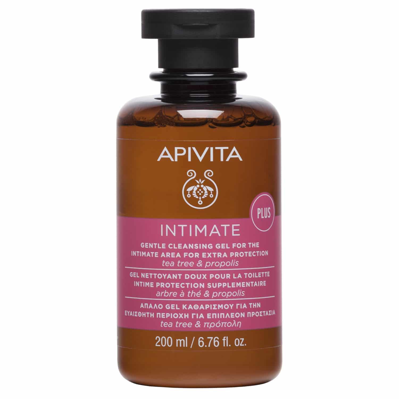 Apivita Intimate Care Plus Απαλό Gel Καθαρισμού για την Ευαίσθητη Περιοχή για Επιπλέον Προστασία με Πρόπολη & Τεϊόδεντρο 200ml