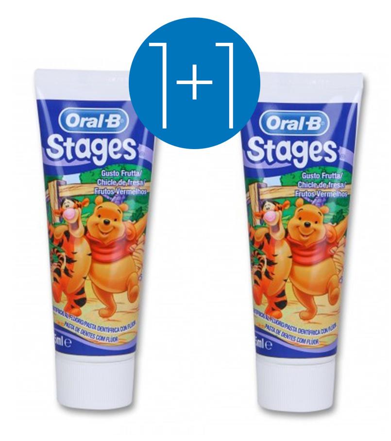 Oral-B Stages Οδοντόκρεμα Για Παιδιά 75ml Προσφορά 1+1 Δώρο