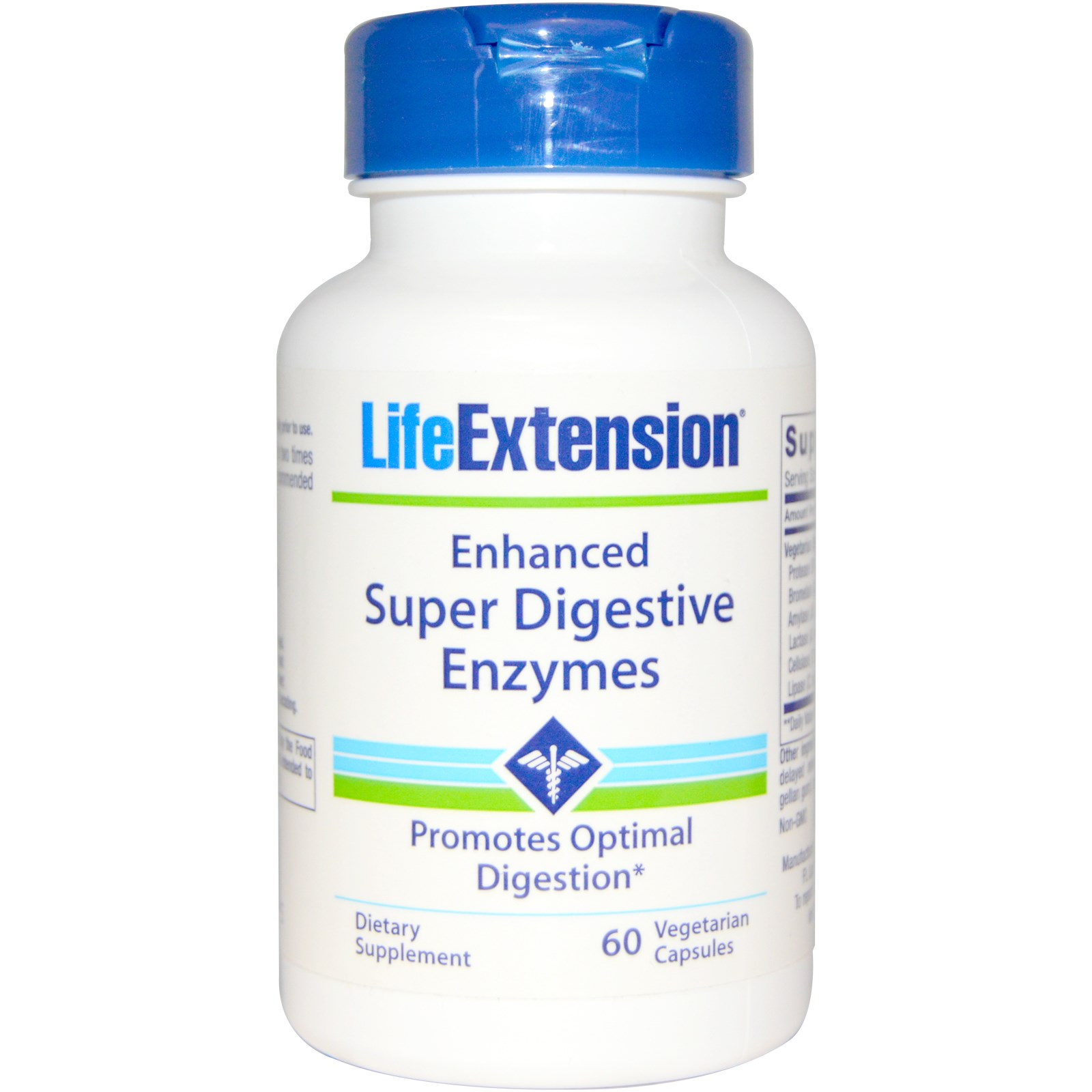 Life Extension Enhanced Super Digestive Enzymes Συμπλήρωμα Διατροφής Για τη Σωστή Λειτουργία του Πεπτικού Συστήματος 60veg.caps