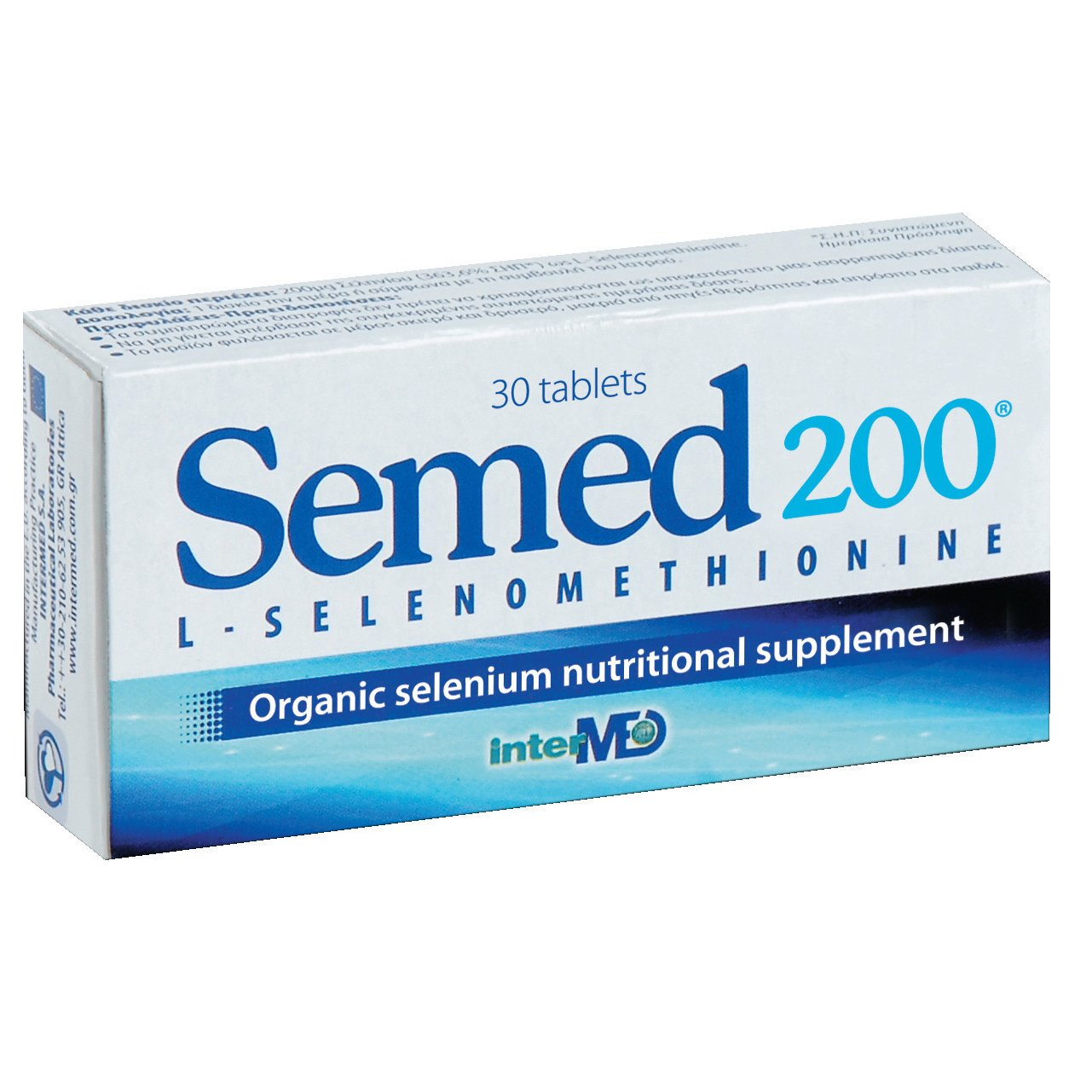 Intermed Semed 200 Αντιοξειδωτικό Συμπλήρωμα Οργανικού Σεληνίου για την Καλή Λειτουργία του Θυρεοειδούς Αδένα 30Tabs