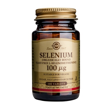 Solgar Selenium 100μg Συμπλήρωμα Διατροφής Κατάλληλο για τη Προστασία από Καρδιακές & Εκφυλιστικές Παθήσεις 100 tabs