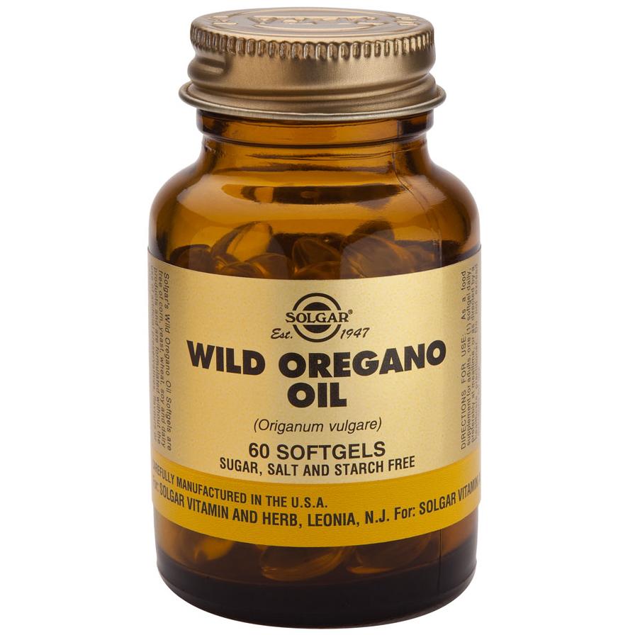 Solgar Wild Oregano Oil Συμπλήρωμα Διατροφής Άγριας Ρίγανης με Ισχυρές Αντιοξειδωτικές, Αντιβακτηριακές Ιδιότητες 60softgels