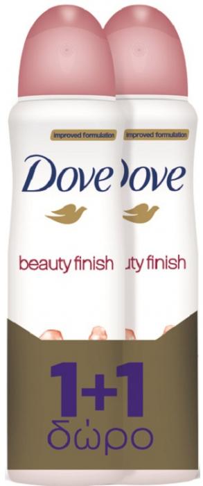 Dove Αποσμητικό Spray Beauty Finish 2 x150ml Πακέτο 1+1