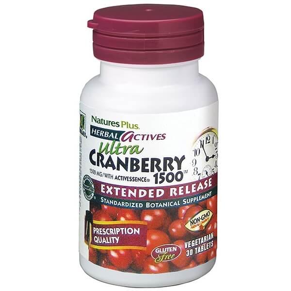 Natures PlusExtended Release Cranberry 1500mg Συμπλήρωμα Διατροφής με Κράνμπεριγια Προστασία Από τις Ουρολοιμώξεις 30 tabs