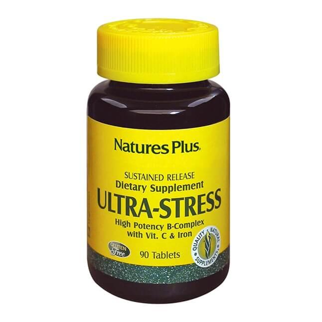 Natures Plus Ultra Stress with Iron Καταπολέμηση Σωματικού Στρες, Ενίσχυση Δυνάμεων 30tabs