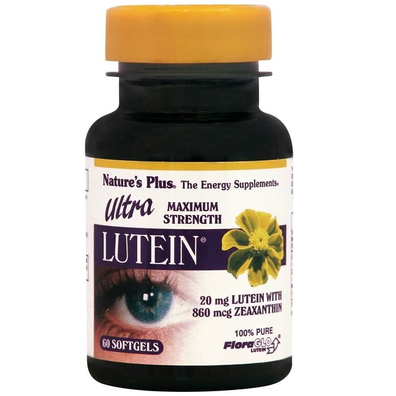Natures Plus Ultra Lutein 20mg Βιταμίνες Ματιών 60 Softgels