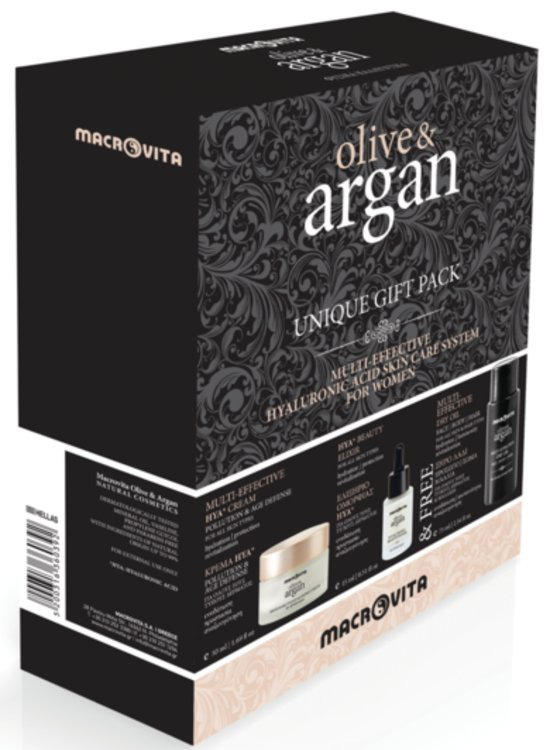 Macrovita Πακέτο Προσφοράς Olive & Argan Multi-Effective HYA Cream 50ml Beauty Elixir HYA 15ml Δώρο Multi Effective Dry Oil 75ml