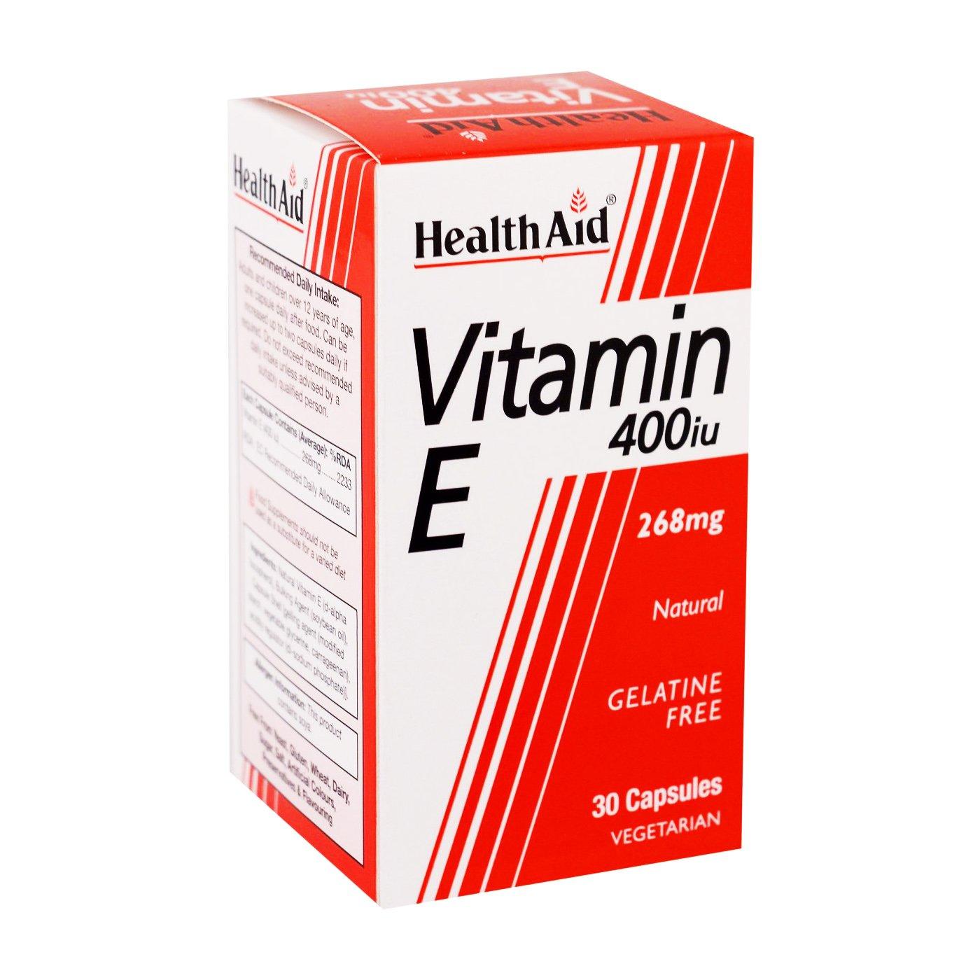 Health Aid Vitamin E 400Iu Ενεργό Αντιοξειδωτικό 30tabs