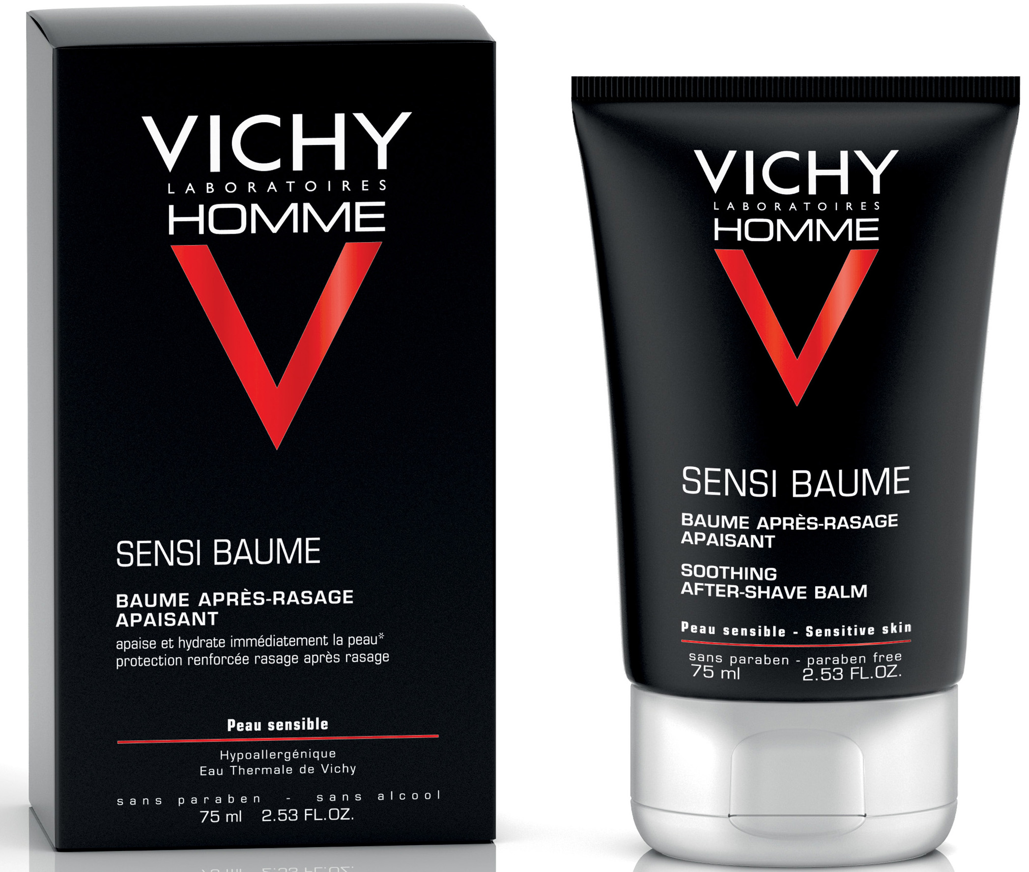 Vichy Homme Sensi Baume After Shave Balm Για Άνδρες Με Ευαίσθητη Επιδερμίδα 75ml