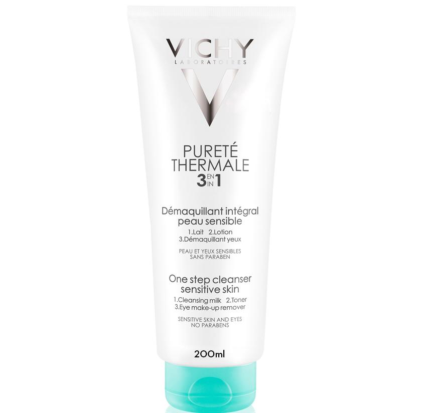 Vichy Purete Thermale Integral Γαλάκτωμα Καθαρισμού, Τονωτική Λοσιον & Ντεμακιγιαζ Ματιών 3 σε1 – 200ml