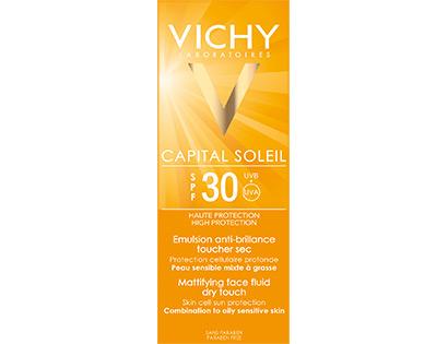 Vichy Capital Soleil Κρέμα Προσώπου Spf30 Λεπτόρρευστη Κρέμα Για Ματ Αποτέλεσμα Dry Touch 50ml