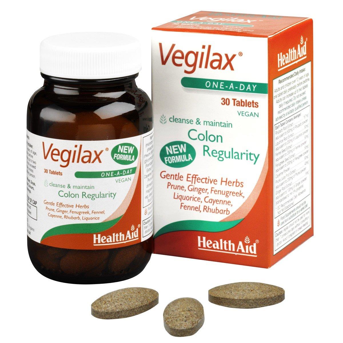 Health Aid Vegilax Καθαρό Έντερο 30 Tablets