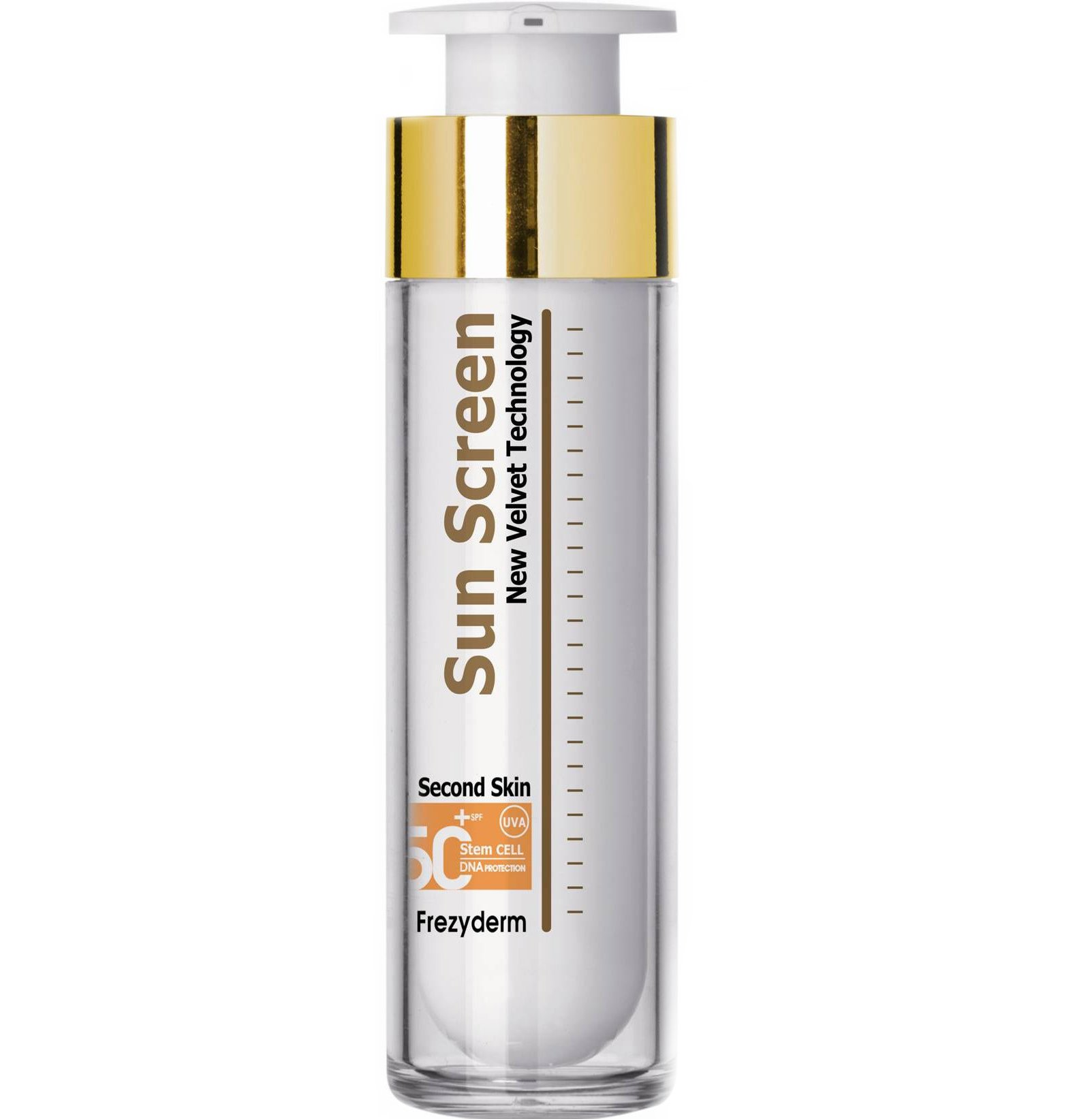 Frezyderm Sun Screen Velvet Face Cream Spf50+Διάφανη Αντηλιακή Προσώπου Βελούδινης Υφής, Πολύ Υψηλής Προστασίας 50ml