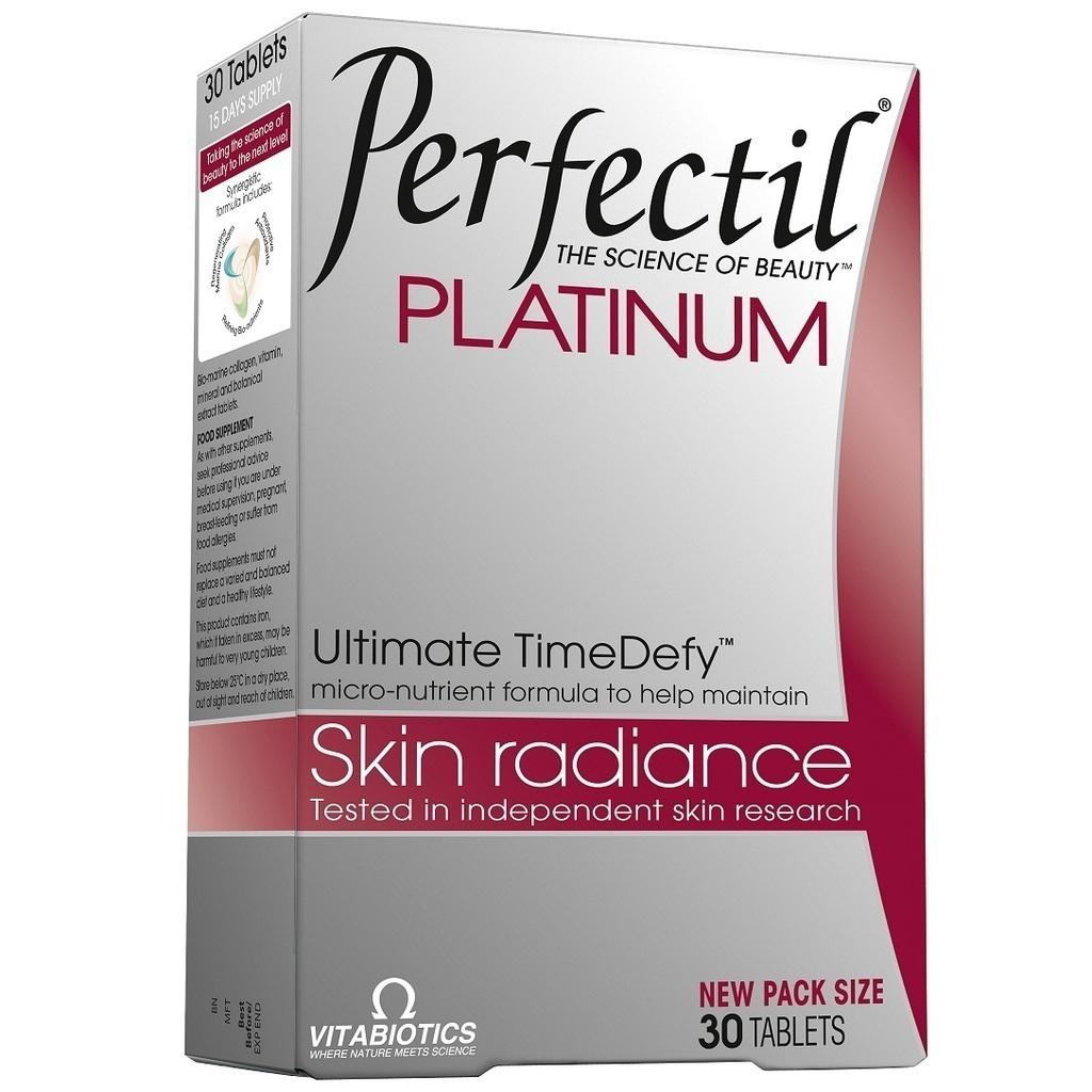Vitabiotics Perfectil Platinum Συμπλήρωμα Διατροφής Συμβάλλει Στην Υγεία και την Καλή Κατάσταση του Δέρματος 30tabs