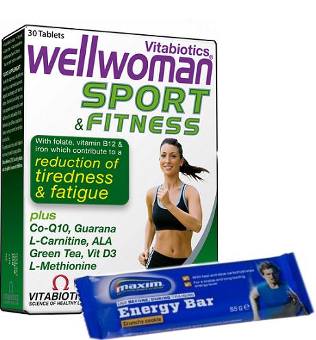 Vitabiotics Wellwoman Sport & Fitness Ειδικά Σχεδιασμένη για Γυναίκες που Αθλούνται 30tabs &Δώρο1 Maxim Energy Bar