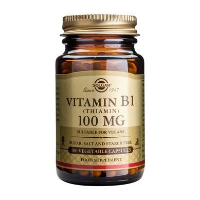 Solgar Vitamin B1 (Θειαμίνη) 100mg 100veg.caps