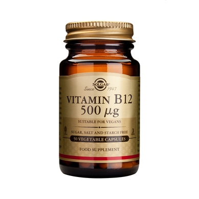 Solgar Vitamin Β12 (κοβαλαμίνη) – 1000μg 100 nuggets