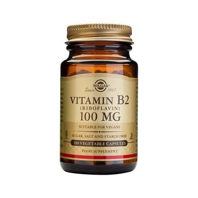 Solgar Vitamin B2 (Ριβοφλαβίνη) 100mg 100veg.caps