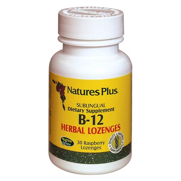 Natures Plus Vitamin B-12 1000mcg Βιταμίνη Β-12 30παστίλιες