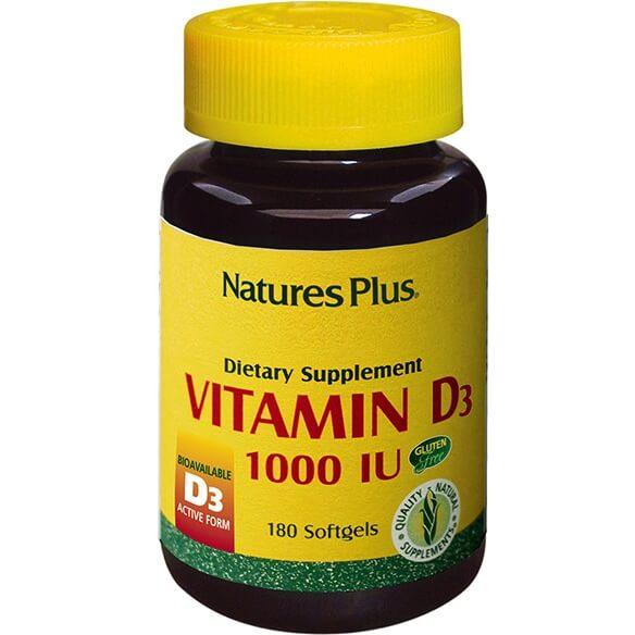 Natures Plus Vitamin D3 1000IU Βιταμίνη D3 180Softgels