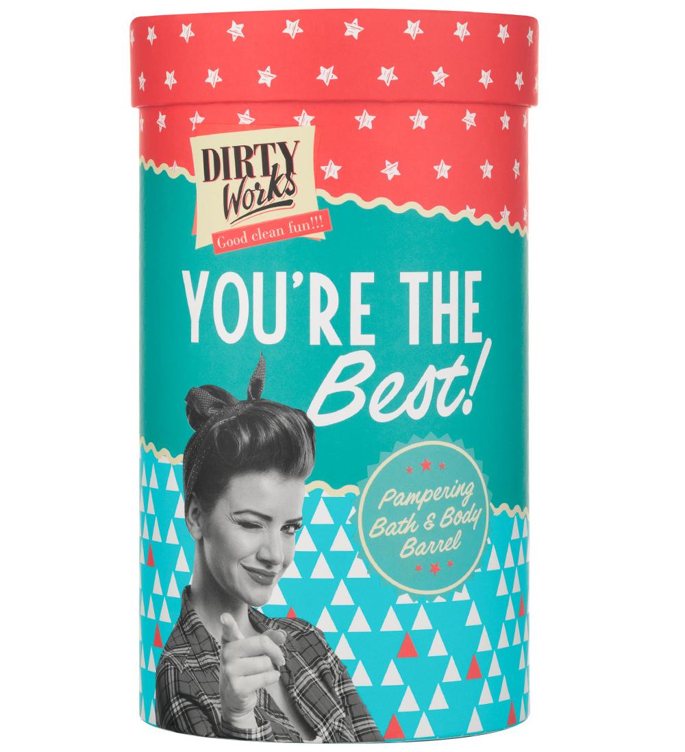 Dirty Works Youre The Best Pampering Bath & Body Barrel Αφρόλουτρο, Ενυδατική Σώματος & Σφουγγάρι Σώματος