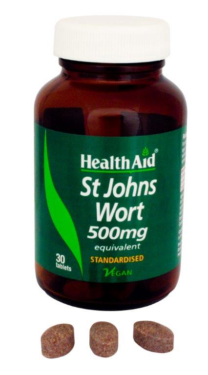 Health Aid St. John's Wort Extract 500mg Αρμονία Και Ισορροπία 30 VegTabs