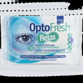 Optofresh Relax 10 Τεμάχια – InterMed,Μάσκες για Κουρασμένα Μάτια Κατάλληλες & για Μαύρους Κύκλους & Σακούλες