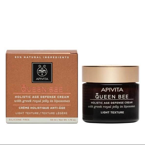 Queen Bee Holistic Age Defence Day Cream With Greek Royal Jelly in Liposomes Legere 50ml – Apivita,Κρέμα Ημέρας Ολιστικής Αντιγή