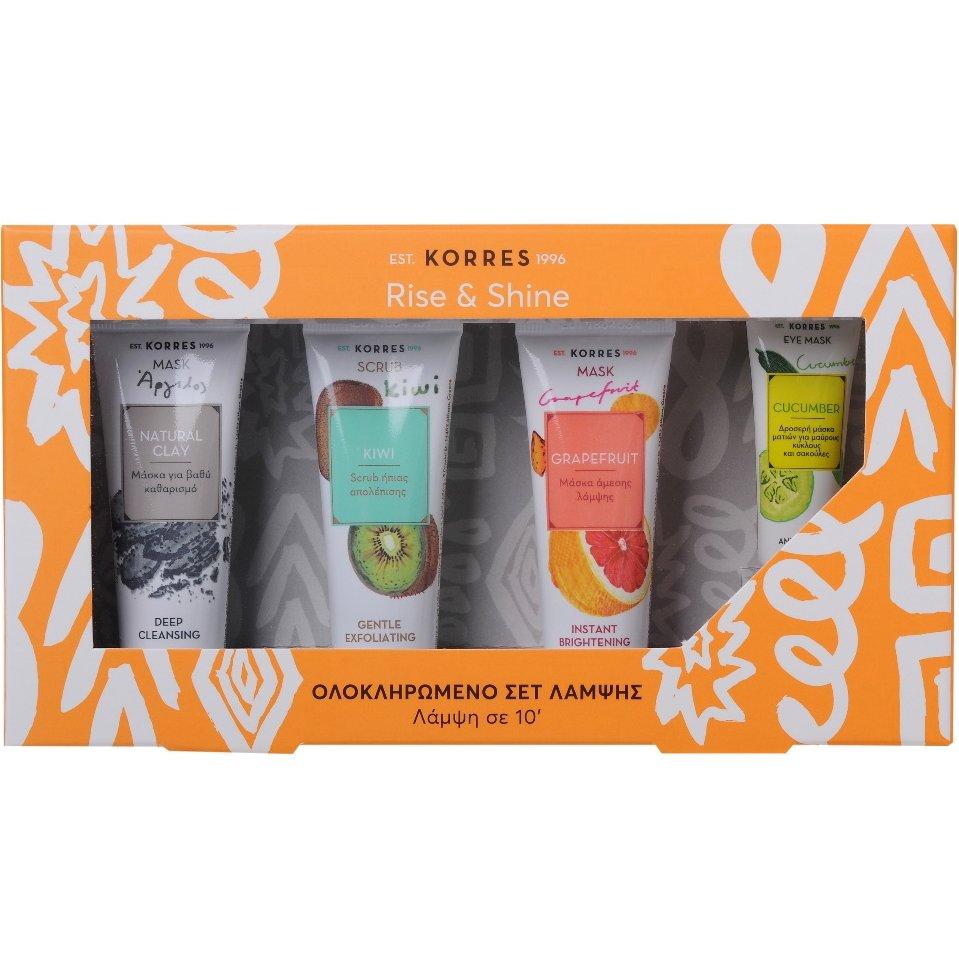 Korres Πακέτο Προσφοράς Μάσκα με Άργιλο 18ml, Scrub Ακτινίδιο18ml, Grapefruit Μά προσφορές   σετ περιποίησης προσώπου   σετ καθαρισμού προσώπου   απολέπισης   μά