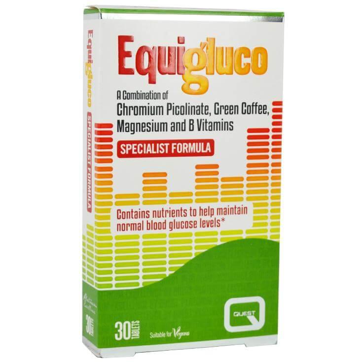 Quest Equigluco Συμπλήρωμα Διατροφής για τη Διατήρηση των Φυσιολογικών Επιπέδων Γλυκόζης στο Αίμα 30 tabs