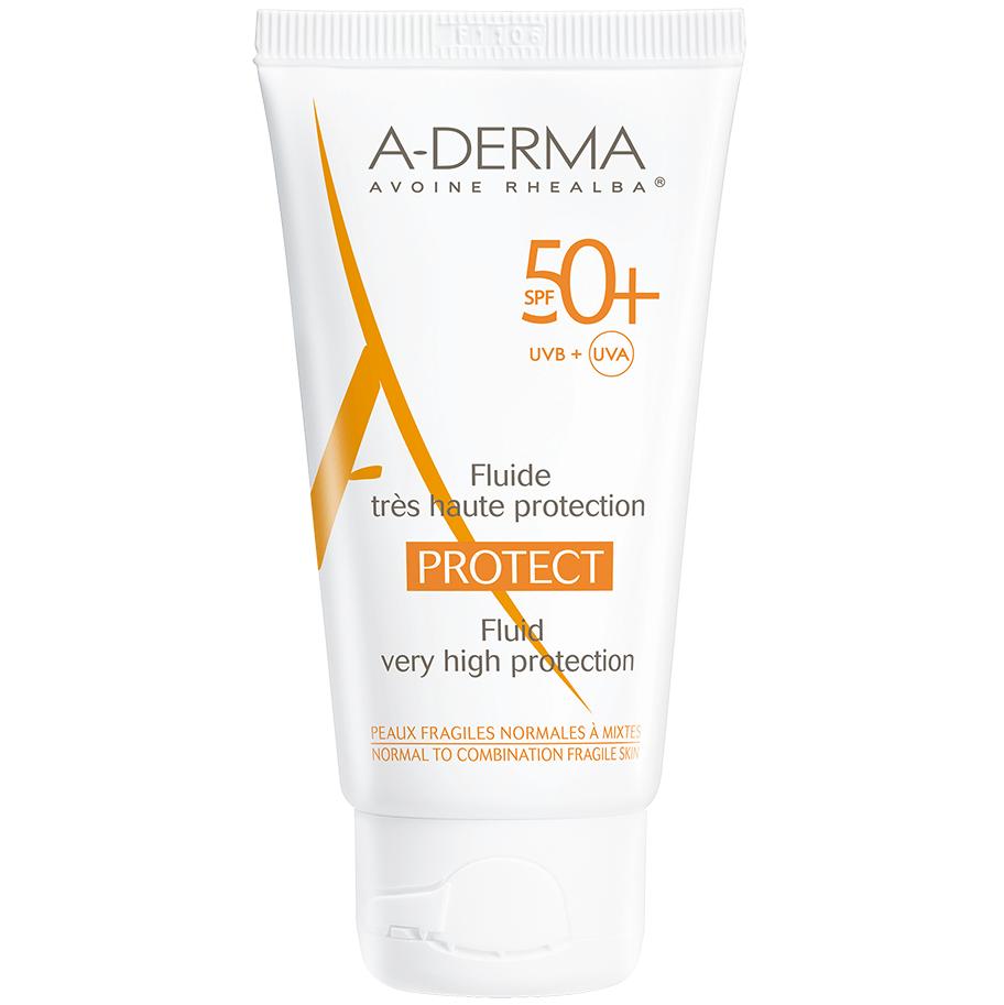 A-Derma Protect Fluide Spf50+ Αντηλιακή Κρέμα Προσώπου Πολύ Υψηλής Προστασίας για Κανονικές Μικτές & Εύθραυστες Επιδερμίδες 40ml
